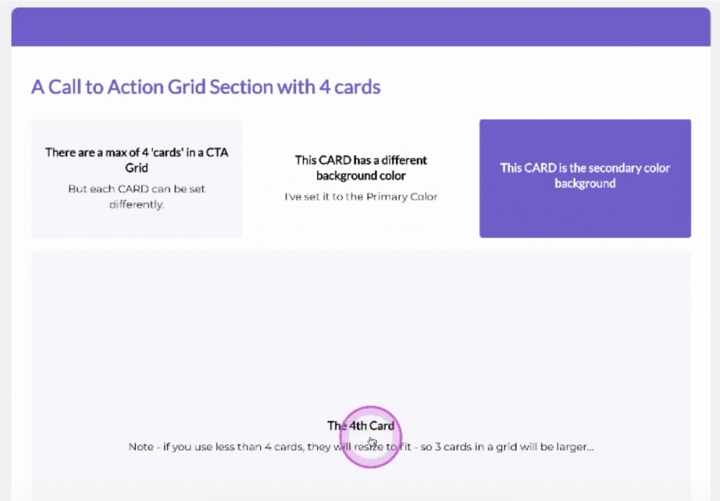 SearchieHUBS CTA Grid card changes size